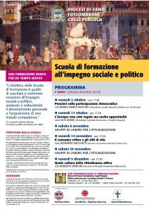 locandina scuola politica 2014